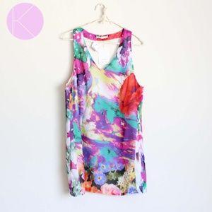NWT LF Millau Multicolor Floral Print Dress